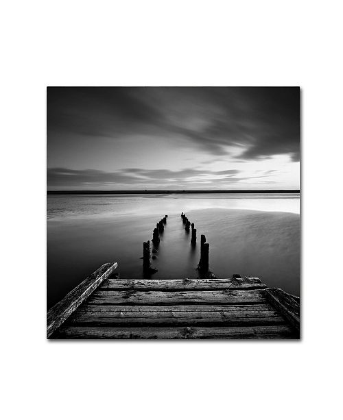 "Trademark Global Rob Cherry 'Dorset Jetty' Canvas Art - 14"" x 14"""