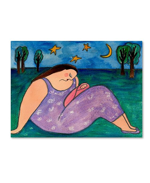 "Trademark Global Wyanne 'Big Diva Early Evening' Canvas Art - 14"" x 19"""