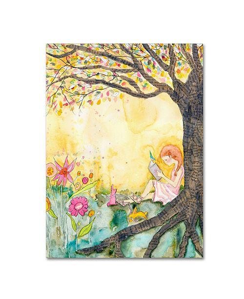 """Trademark Global Wyanne 'Book Nook' Canvas Art - 14"""" x 19"""""""