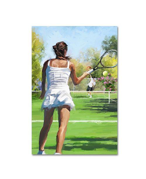 "Trademark Global The Macneil Studio 'Tennis Players' Canvas Art - 12"" x 19"""