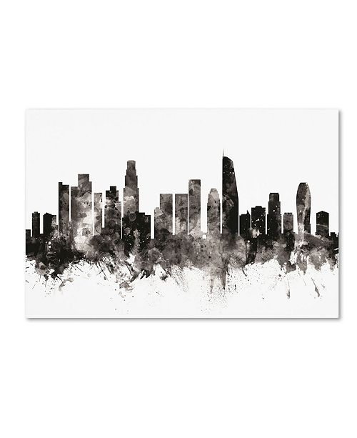 "Trademark Global Michael Tompsett 'Los Angeles California Skyline III' Canvas Art - 12"" x 19"""