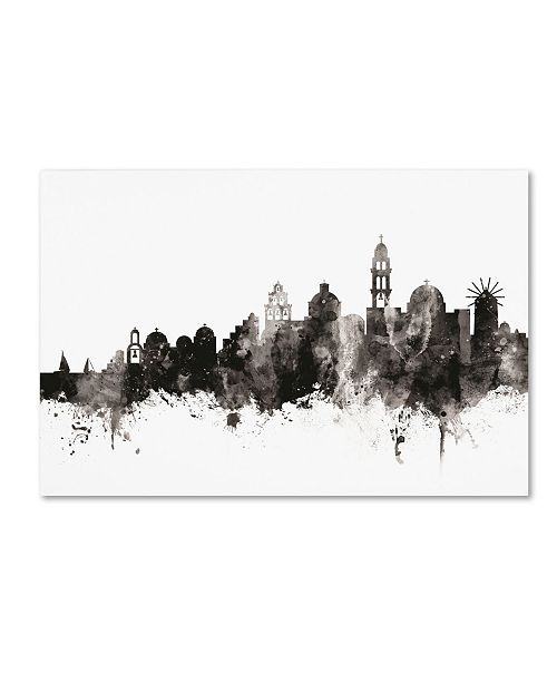 "Trademark Global Michael Tompsett 'Santorini Skyline III' Canvas Art - 12"" x 19"""