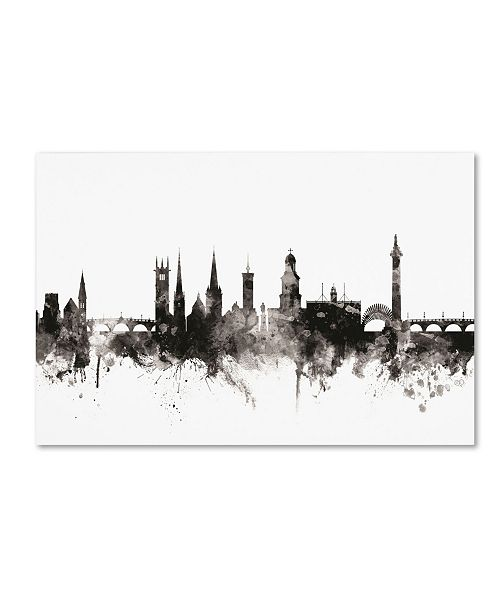 "Trademark Global Michael Tompsett 'Shrewsbury England Skyline III' Canvas Art - 12"" x 19"""