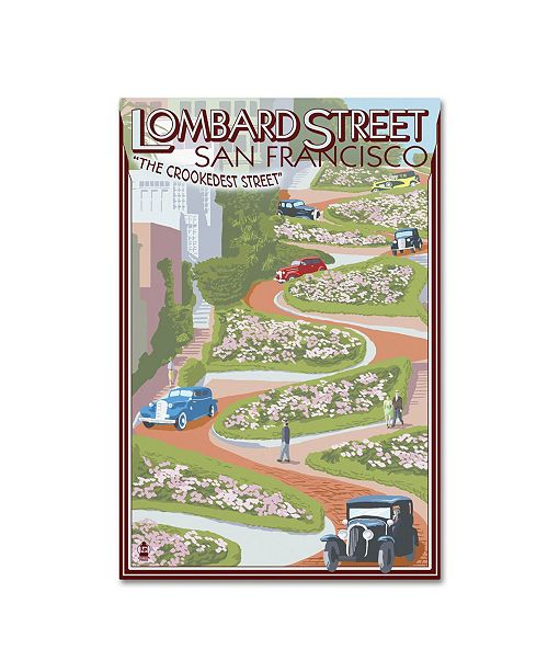 "Trademark Global Lantern Press 'Travel Poster 42' Canvas Art - 12"" x 19"""