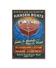 "Lantern Press 'Boat 2' Canvas Art - 12"" x 19"""