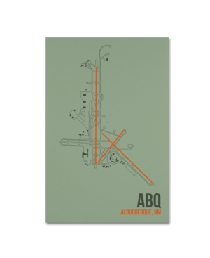 08 Left 'Abq Airport Layout' Canvas Art - 12