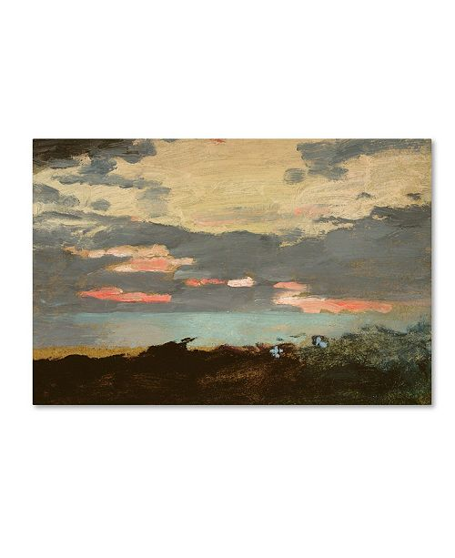 "Trademark Global Winslow Homer 'Sunset, Saco Bay' Canvas Art - 12"" x 19"""