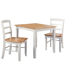 International Concepts Dining Table With 2 Ladderback Chairs