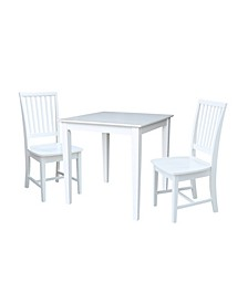 30X30 Dining Table With 2 San Remo Chairs