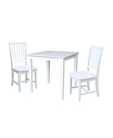 International Concepts 30X30 Dining Table With 2 San Remo Chairs