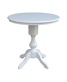 "30"" Round Top Pedestal Table- 34.9""H"