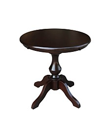 "International Concepts 30"" Round Top Pedestal Table- 28.9""H"