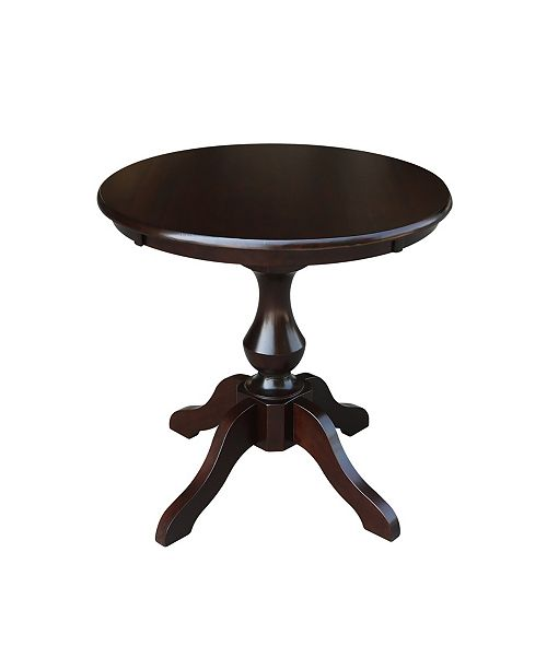 "WHITEWOOD INDUSTRIES/INTNL CONCEPTS International Concepts 30"" Round Top Pedestal Table- 28.9""H"
