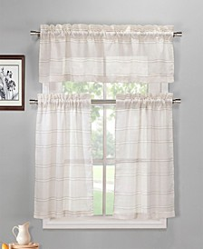 Maui Striped Kitchen Curtain Set