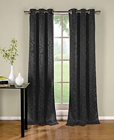 """Zayden 38"""" x 96"""" Leaf Print Blackout Curtain Set"""