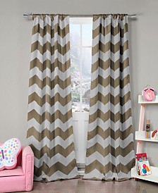 "Fifika 39"" x 84"" Chevron Print Blackout Curtain Set"