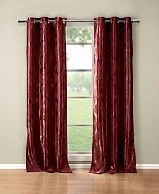 "Blair 36"" x 84"" Leaf Print Blackout Curtain Set"
