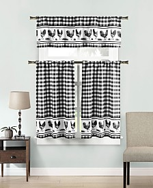 Hellen 3-Piece Kitchen Curtain Set