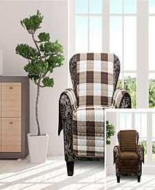 "Alba 69"" x 75"" Reversible Water-resistant  Chair Cover"