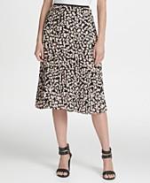 2d091cfcf DKNY Floral-Print Pleated Midi Skirt