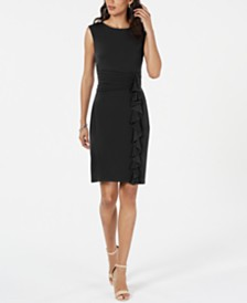 Jessica Howard Ruffle-Side Shift Dress