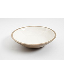 Enamel & Wood Serve Bowl