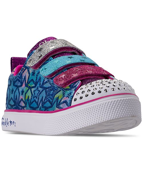 Skechers Little Girls' Twinkle Toes: Twinkle Breeze 2.0 - Sparkle Dust Casual Sneakers from Finish Line
