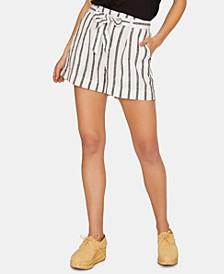 inland Striped Tie-Waist Shorts