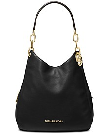 Lillie Chain Leather Hobo