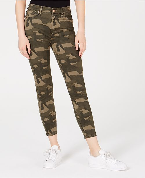 official photos huge discount buy cheap Juniors' Camo-Print High-Rise Skinny Jeans