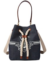 7936a9438 Lauren Ralph Lauren Anchor Debby II Small Drawstring Bag