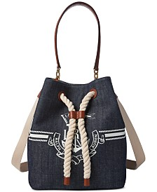 Lauren Ralph Lauren Anchor Debby II Small Drawstring Bag