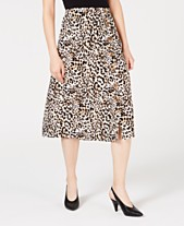 acf2d3963 BCX Juniors' Animal-Print Buttoned Skirt