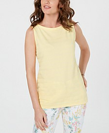 Petite Textured Cotton Tank Top, Created for Macy's