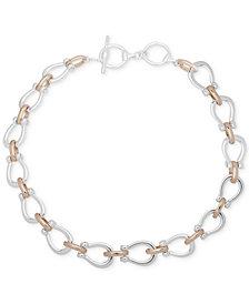 """Lauren Ralph Lauren Two-Tone Link 17"""" Collar Necklace"""