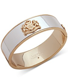 Lauren Ralph Lauren Two-Tone Crest Wide Bangle Bracelet