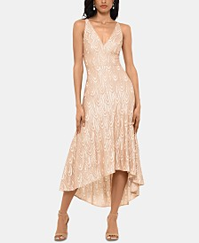 Betsy & Adam Sequined Midi Dress