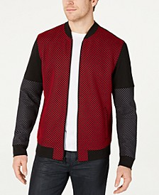 Men's Mesh Colorblocked Bomber Jacket, Created for Macy's