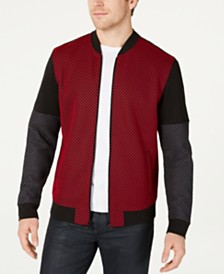 Alfani Men's Mesh Colorblocked Bomber Jacket, Created for Macy's
