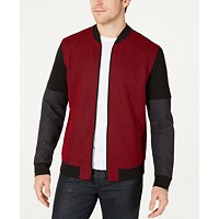 Deals on Alfani Mens Mesh Colorblocked Bomber Jacket