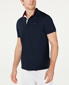 Tommy Hilfiger Men's Moisture Wicking Gibson Custom-Fit Polo Shirt