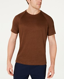 Michael Kors Men's Raglan-Sleeve Linen T-Shirt