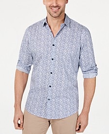 Men's Geo Static-Print Shirt, Created for Macy's