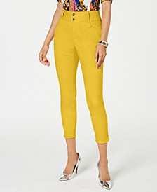 Double-Button Skinny Ankle Jeans, Created for Macy's