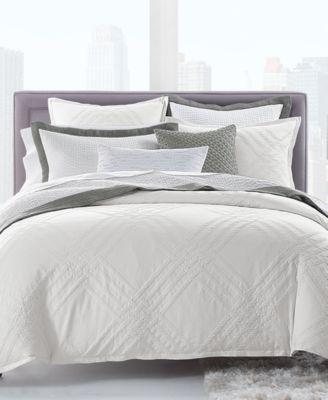 Locked Geo Cotton King Duvet Cover, Created for Macy's