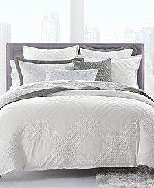 CLOSEOUT! Locked Geo Cotton King Duvet Cover, Created for Macy's