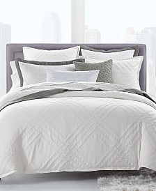 Hotel Collection Locked Geo Cotton King Duvet Cover, Created for Macy's