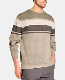 Weatherproof Vintage Men's Striped Stonewashed Sweater