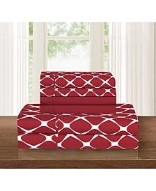 Elegant Comfort Bloomingdale 6-Piece Wrinkle Free Sheet Set King