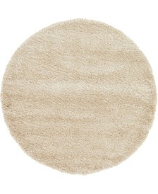 Bridgeport Home Jiya Jiy1 Beige 6' x 6' Round Area Rug